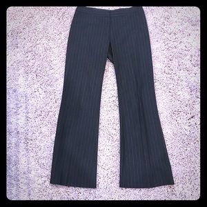 Arden B black pint striped dress pants 6/8